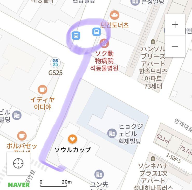 SOUL CUP 行き方 バス