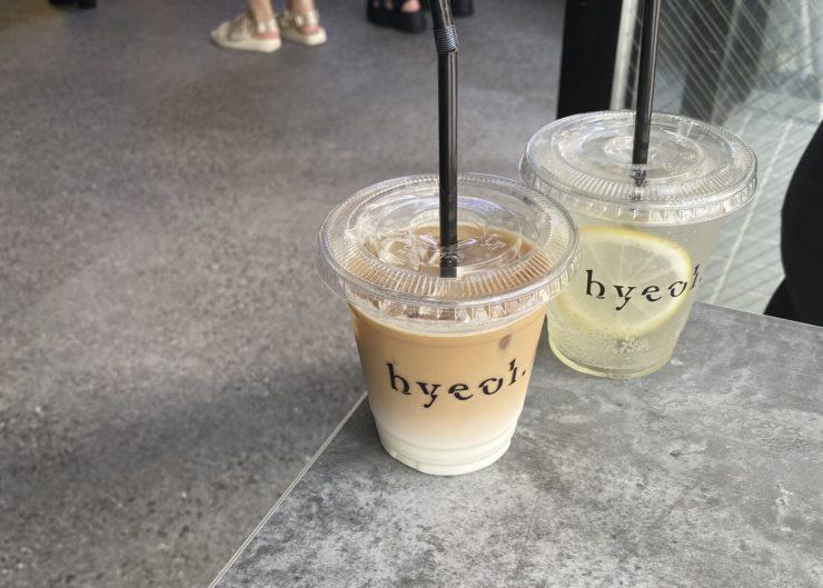 カフェオレとレモネード
