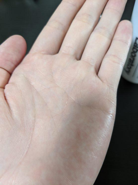 CNP Invisible Peeling Boosterはあまりベタベタしません