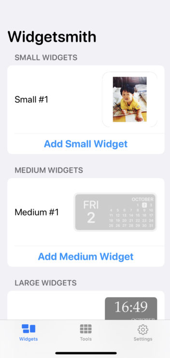 Widgetsmithで時計・画像のウェジットを表示
