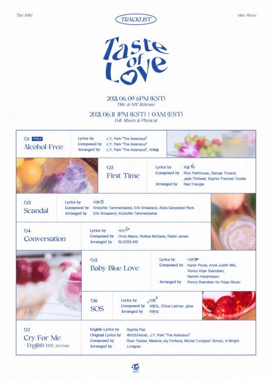 Taste of LOVEカムバスケジュール